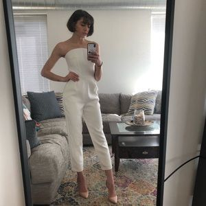 Express Strapless White Jumpsuit